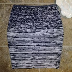 Alexander Wang Marbled Pencil Skirt Grey